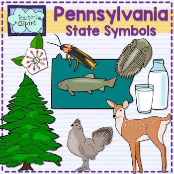 Pennsylvania state symbols clipart