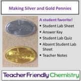 Chemistry Lab: Penny Alloy Making Silver and Gold Pennies!