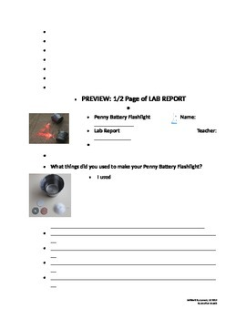 Penny Battery Flashlight, AWESOME Lab Activity for 3rd - 5th Grades