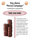 Penny Campaign Fundraising Flyer Template