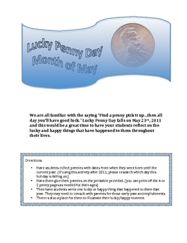 Penny Day in the Month of May