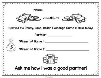 Penny, Dime, Dollar Money Exchange Game
