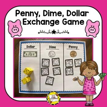 Penny, Dime, Dollar Money Exchange Game