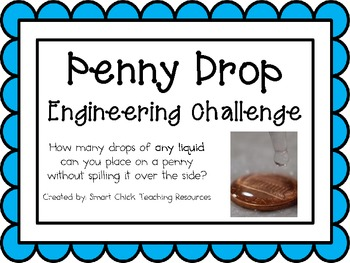 Penny Drop: Engineering Challenge Project ~ Great STEM Activity!