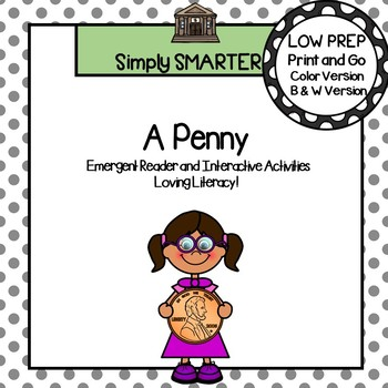 Penny Emergent Reader Coin Book AND Interactive Activities