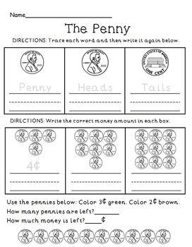 Money Penny Review Practice Worksheet