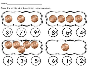 Penny - Math Money Center, Money Unit, Summer Packet