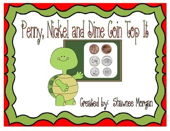 Penny, Nickel and Dime Coin Top It Game