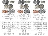 Penny, Nickle, Dime - US coin rhyme