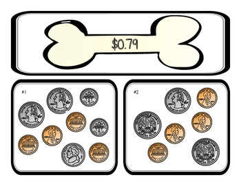 Counting Money Sorting Activity: Penny Pups
