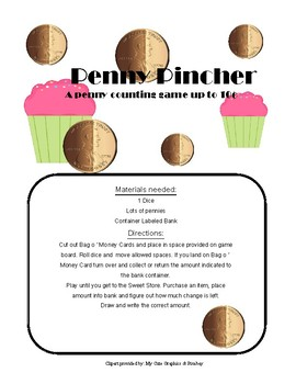 Penny Pincher: A Penny Counting Game up to 10¢