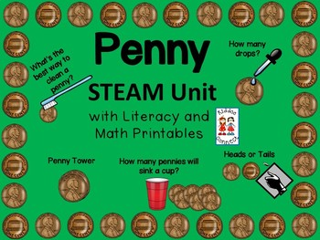 STEM--Penny STEAM Unit with Literacy and Math printables