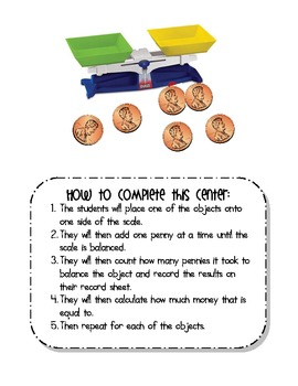 Penny Scale {Calculating Totals for Pennies}