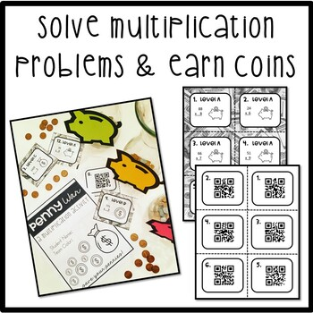 Penny War: A Multiplication Activity 2, 3, and 4 digits by 1-digit w/ Regrouping