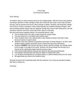 Penny War Letter