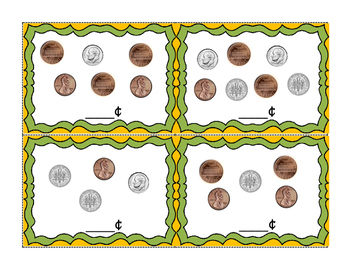 Penny and Dime Coin Top It Game