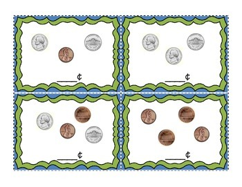 Penny and Nickel Coin Top It Game