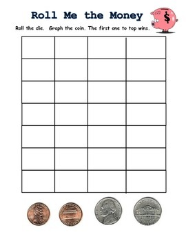 Penny and Nickel Id Review Game and Probability Intro