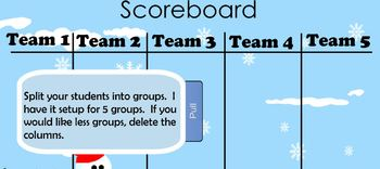 Penquin themed review game template (28 questions) for SMART notebook