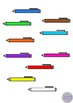 Pens Back to School Stationary Clip Art Illustrations
