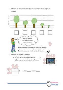 Pensamiento matemático- 1er Grado, Segundo Bloque. Continuemos con longitudes