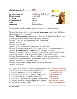 Pensar Expressions Spanish Reading: Lectura en el presente