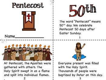 Pentacost Mini Book and Coloring Page