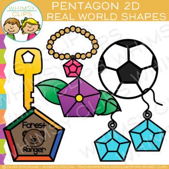 Pentagon Real Life Objects 2D Shapes Clip Art