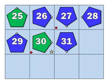 Pentagon Calendar Cards