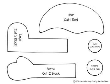 Pentagon Pal Cut and Paste