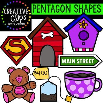 Pentagon Shapes {Creative Clips Digital Clipart}