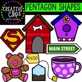 Pentagon Shapes {Creative Clips Digital Clipart}