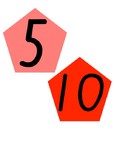 Pentagon Skip Counting by 5s Display (NSW Foundation Font)
