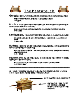 Pentateuch and Ark of the Covenant Handout