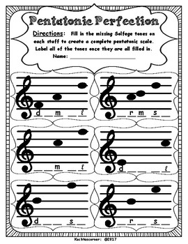 Pentatonic Assessment Worksheets: 2 Simple PDF's to Check for Understanding