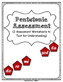 Pentatonic Assessment Worksheets: 2 Simple PDF's to Check