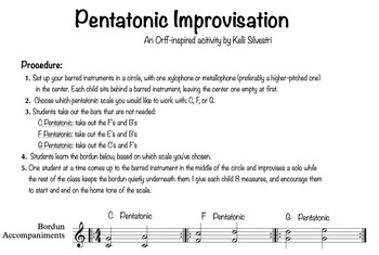 Pentatonic Improvisation Activity