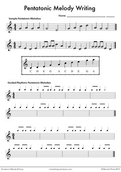 Pentatonic Melody Writing