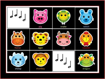 Pentatonic Memory Game using the Chinese Zodiac - do, re, mi, so, la
