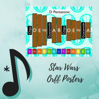 "Pentatonic Posters Using Orff Instruments - ""Star Wars"""