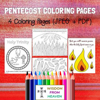 Pentecost Coloring Pages - Set of 4