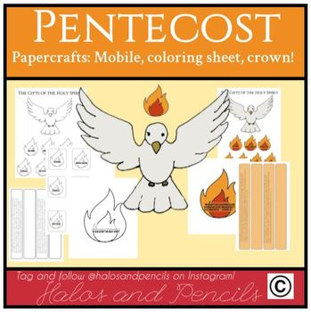 Pentecost Confirmation Gifts of the Holy Spirit Papercrafts