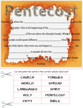 Pentecost Cut and Paste