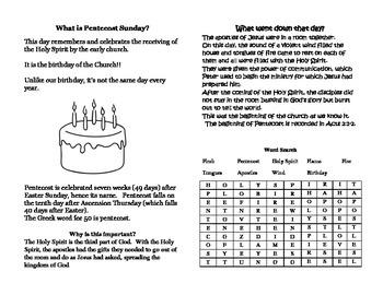 Pentecost Sunday Booklet