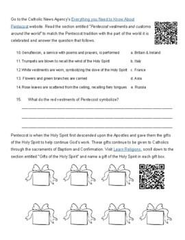 Pentecost Sunday WebQuest