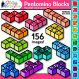 Pentomino Blocks Clip Art | Great for Geometry, Area and Perimeter for Math