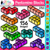 Pentomino Blocks Clip Art {Great for Geometry, Area and Pe