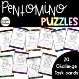 Pentomino Challenge Task Cards