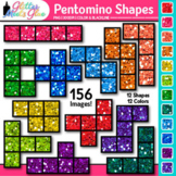 Pentomino Shapes Clip Art | Great for Geometry, Area and Perimeter for Math