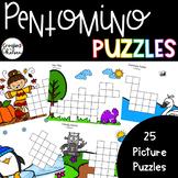 Pentomino Puzzles- 25 Picture Puzzles